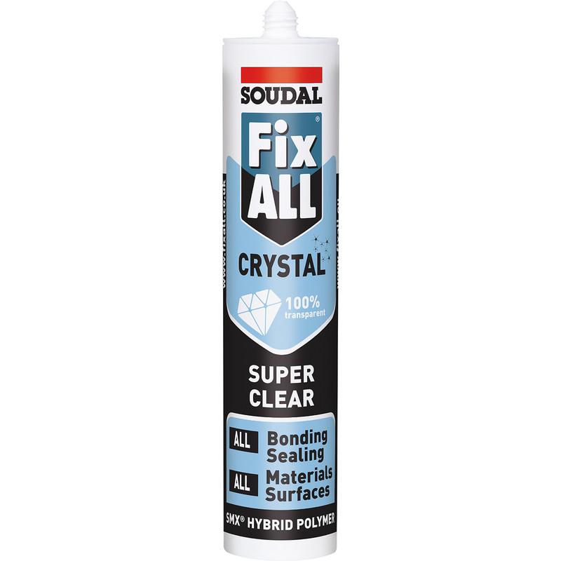 Soudal Fix All Crystal Adhesive & Sealant
