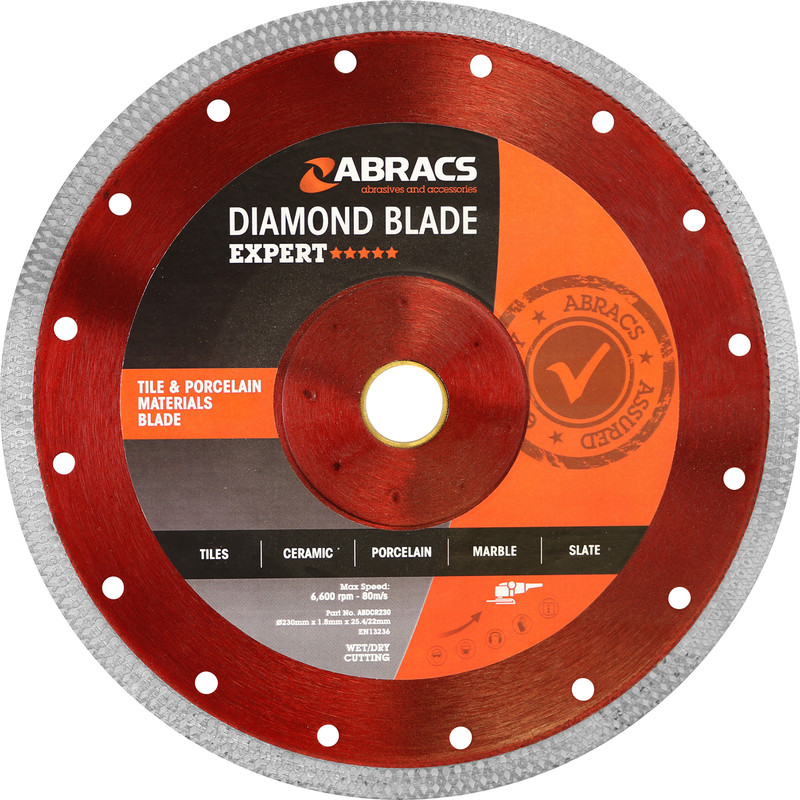 Abracs Tile & Porcelain Diamond Blade