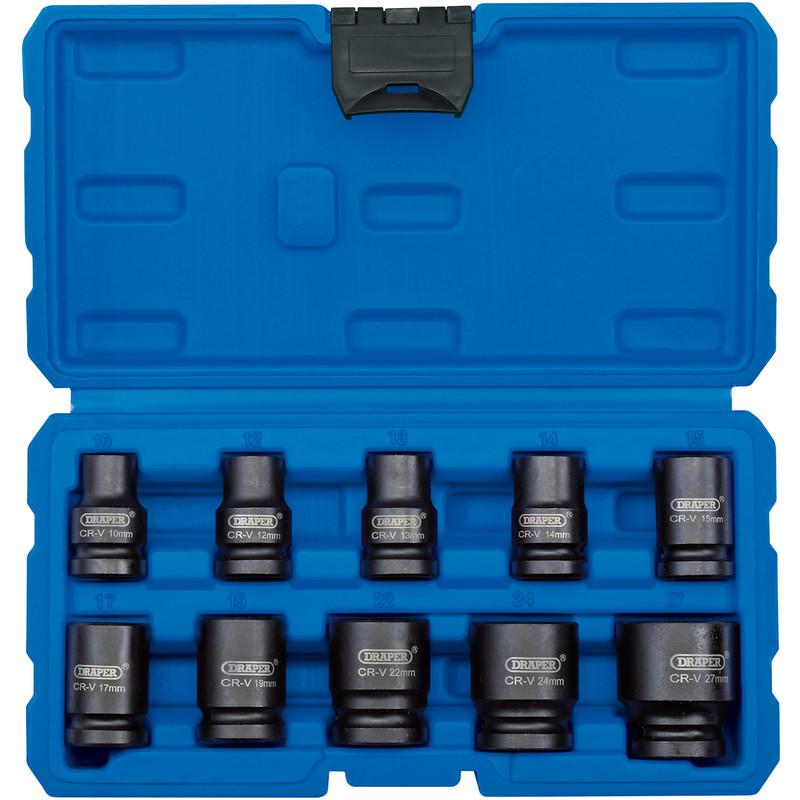 Draper 1/2 Inch Square Drive Impact Socket Set