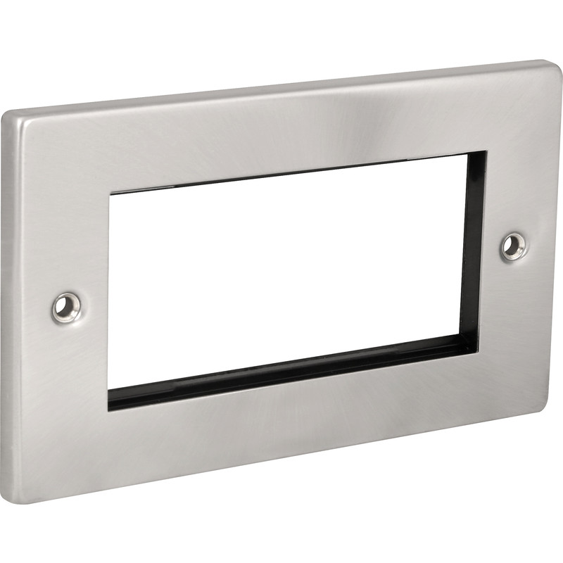 Click Deco Satin Chrome Data Plate