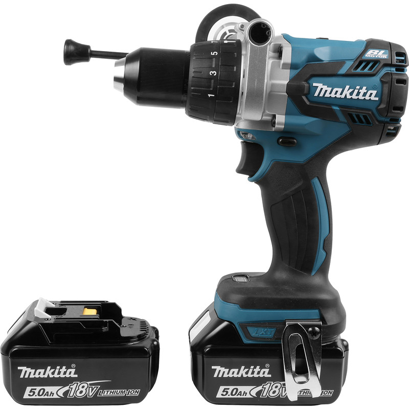 Makita DHP481RMJ 18V Li-Ion LXT Cordless Brushless Combi Drill 2 x 5 0Ah