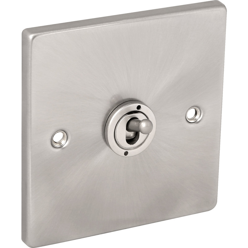 Click Deco Satin Chrome Toggle Switch