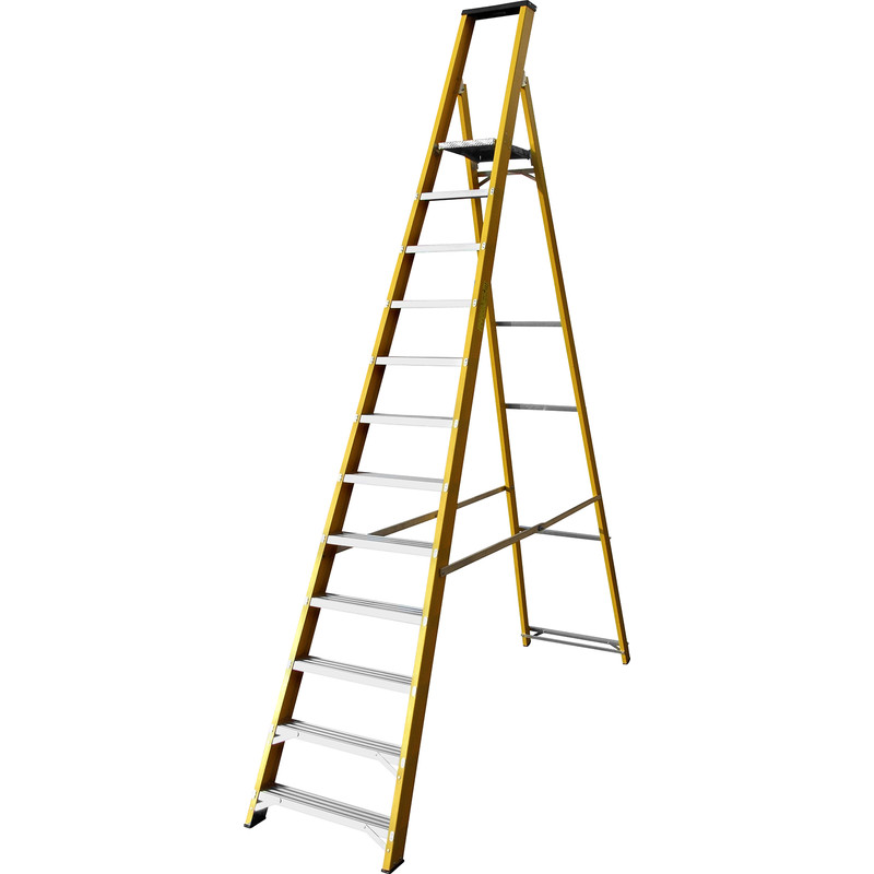 Lyte Heavy Duty Fibreglass Platform Step Ladder