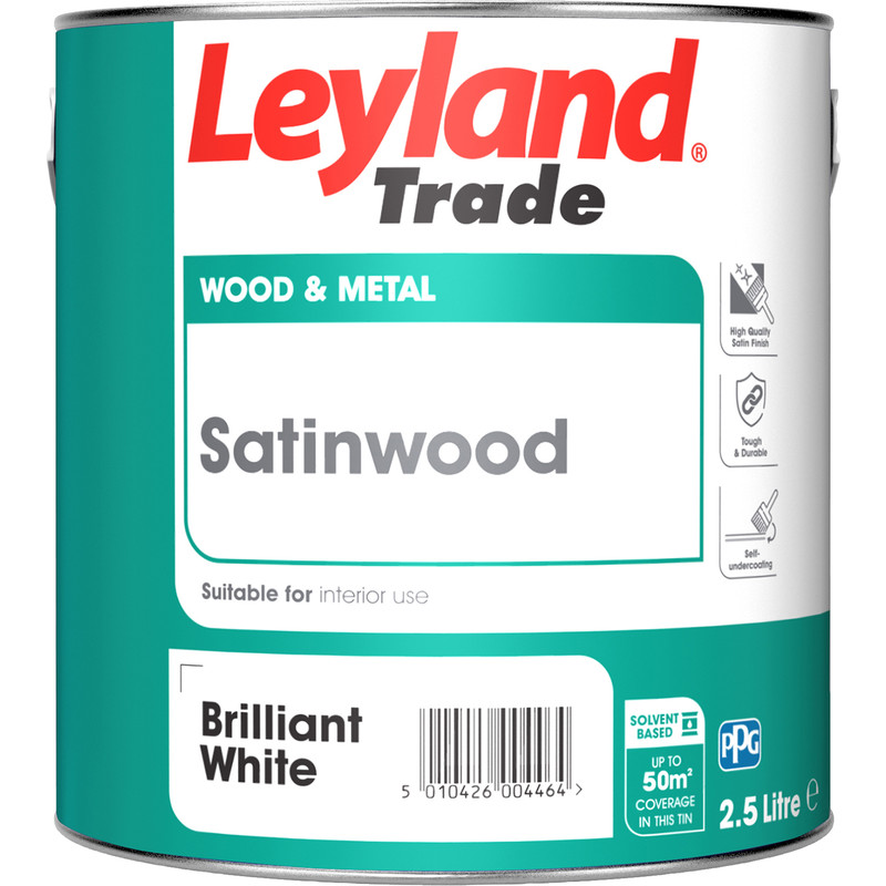 Leyland Trade Satinwood Paint 2.5L