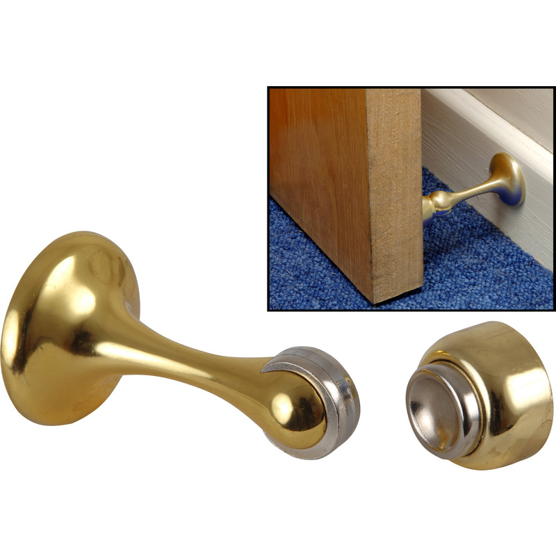 Magnetic Door Holder  sc 1 st  Toolstation & Magnetic Door Holder Polished Brass