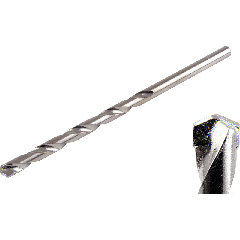 Long Masonry drill bit tungsten carbide tipped 10 x 200mm brick stone concrete