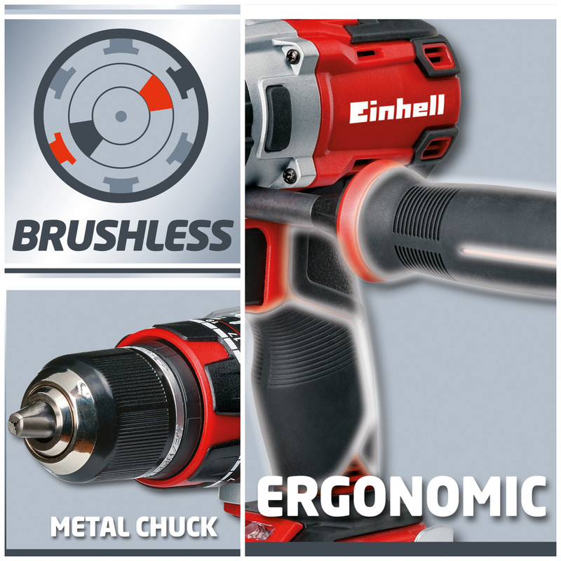 Einhell PXC TE CD18Li-I BL Power X-Change 18V Li-Ion Cordless Brushless Combi Drill