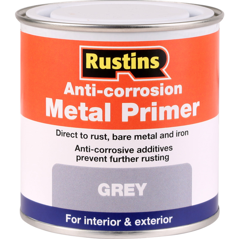 Paint And Primer >> Rustins Anti Corrosive Quick Drying Metal Primer Paint Grey 250ml