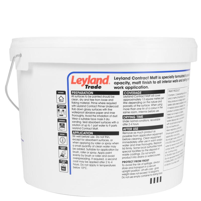 Leyland Trade Contract Matt Emulsion Paint 10L