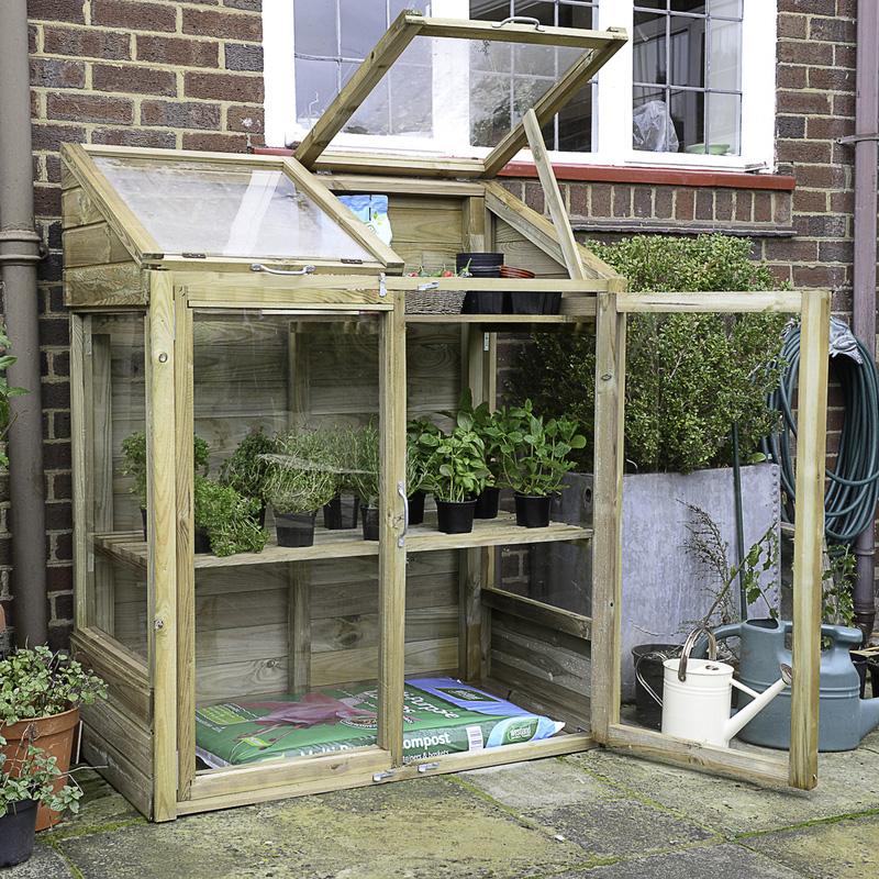 Forest Garden Mini Greenhouse 144cm (h) x 120cm (w) x 62cm (d)