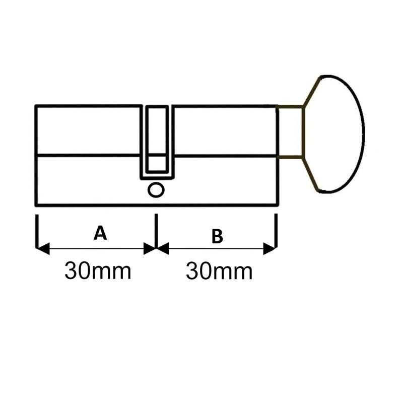 6 Pin Euro Thumbturn Cylinder