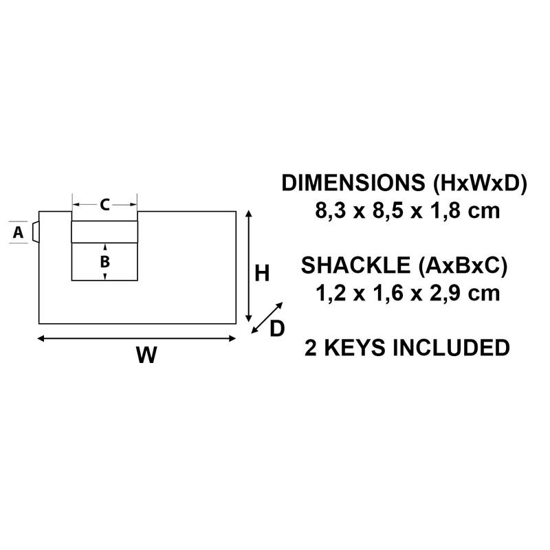Master Lock Brass Rectangular Horizontal Padlock