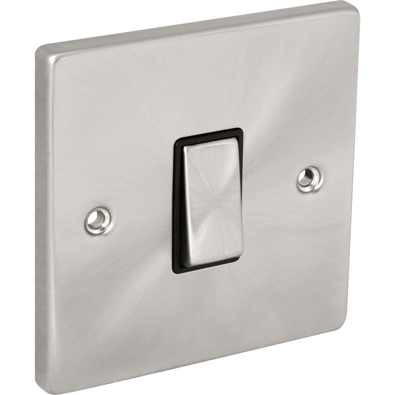 Click Deco Satin Chrome Switch
