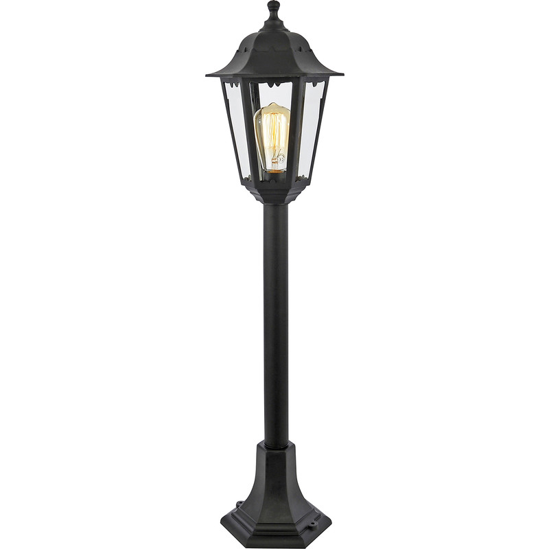 Coast Bianca Black 6 Panel Tall Post Light