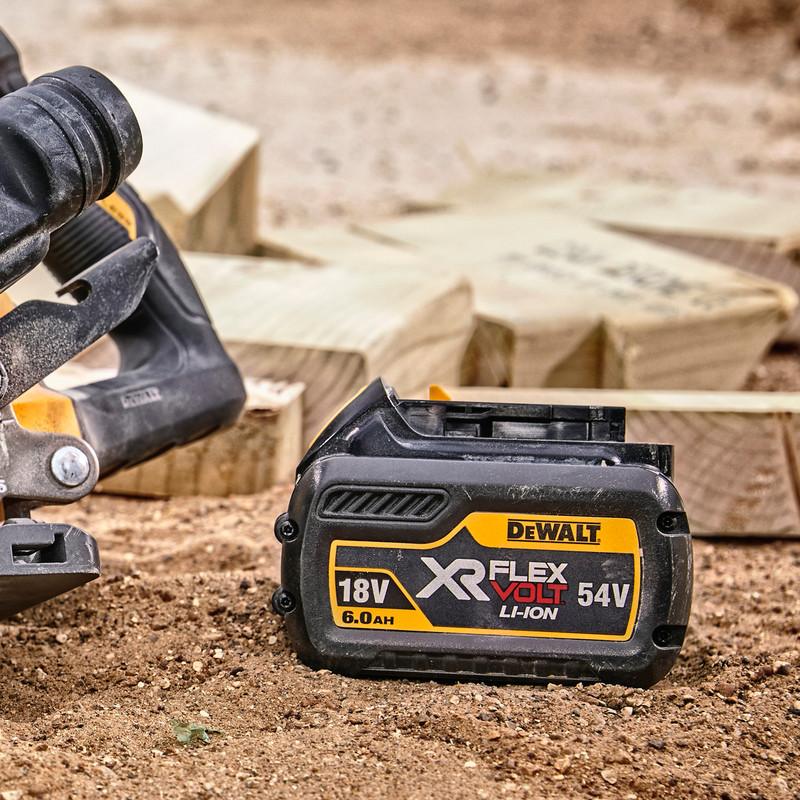 DeWalt DCS727 54V XR FlexVolt 250mm Double Bevel Slide Mitre Saw