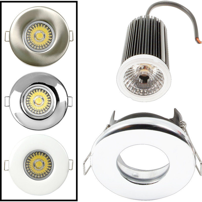 LED 9W Dimmable Fire Rated Downlight IP65