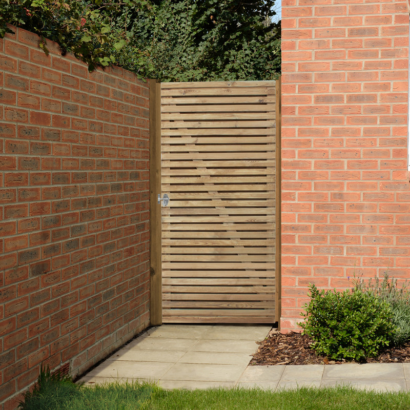 Forest Garden Pressure Treated Double Slatted Gate