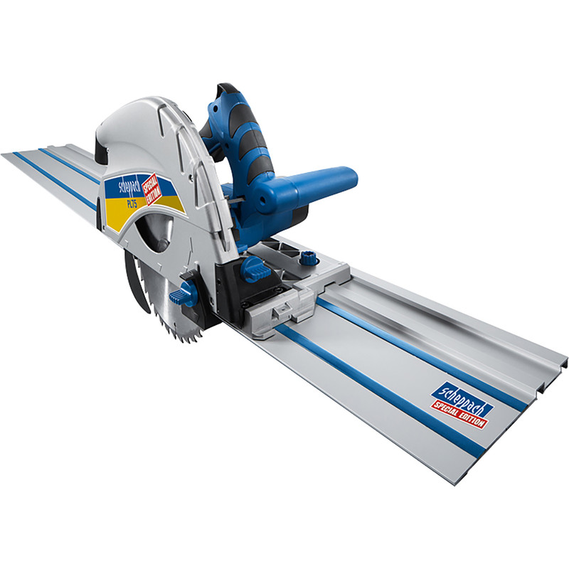 Scheppach PL75-P2 1600W 210mm Plunge Saw + 2 x 1400mm Guide Rails