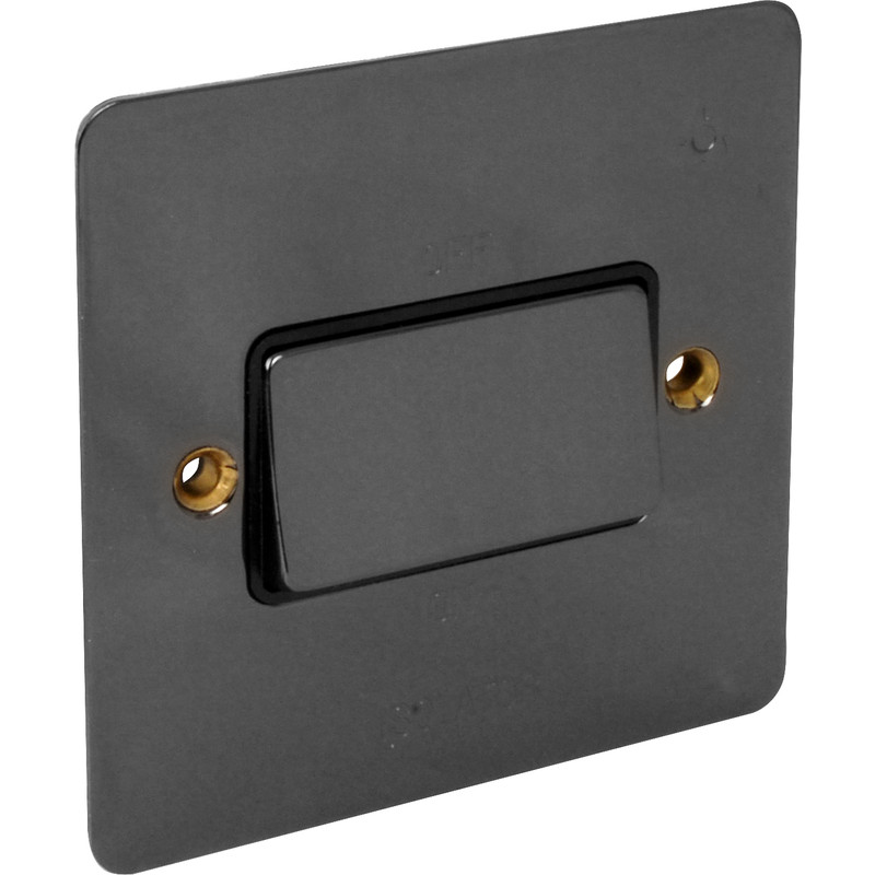 Flat Plate Black Nickel Fan Isolator
