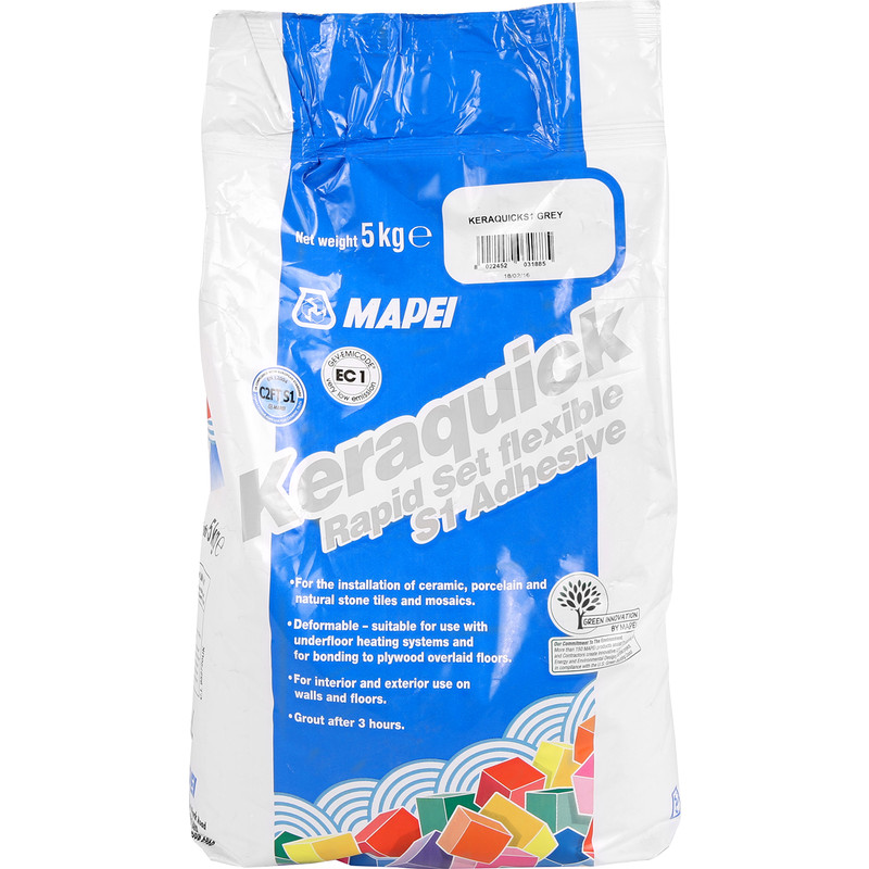 Mapei Keraquick Rapid Set Tile Adhesive 5kg Grey