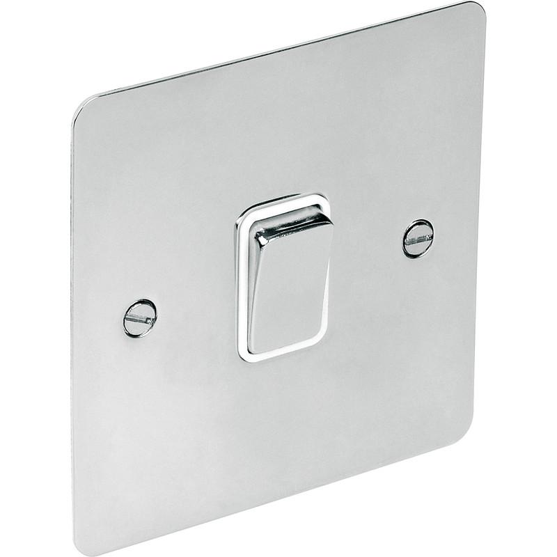 Flat Plate Polished Chrome 20A DP Switch