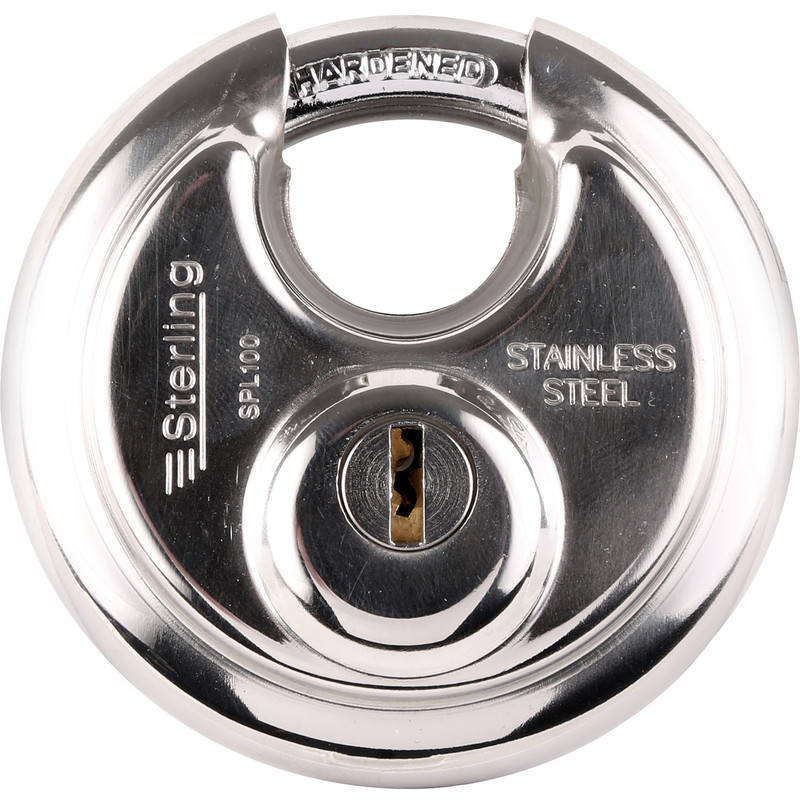 Sterling Stainless Steel Disc Padlock