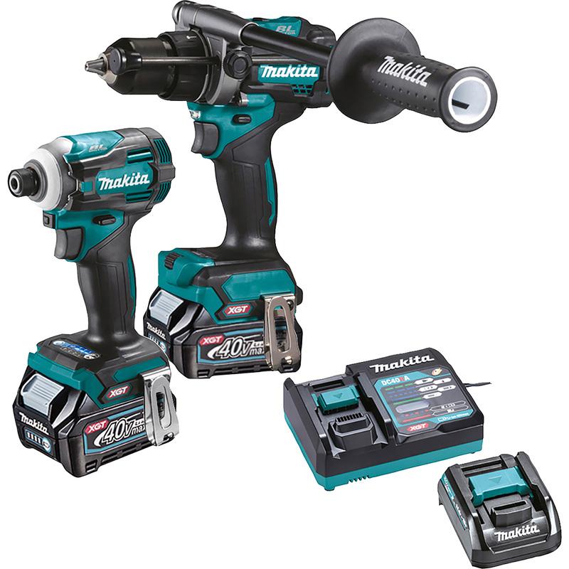 Makita XGT 40V Max Combi Drill & Impact Driver Kit