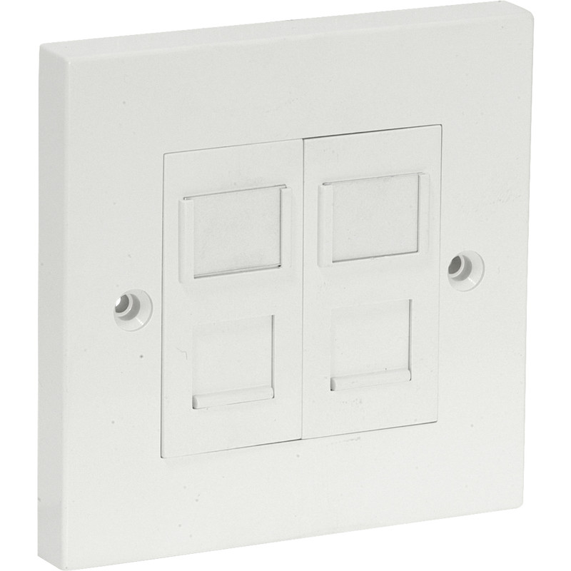 Axiom RJ45 CAT5E Wall Outlet Kit Double
