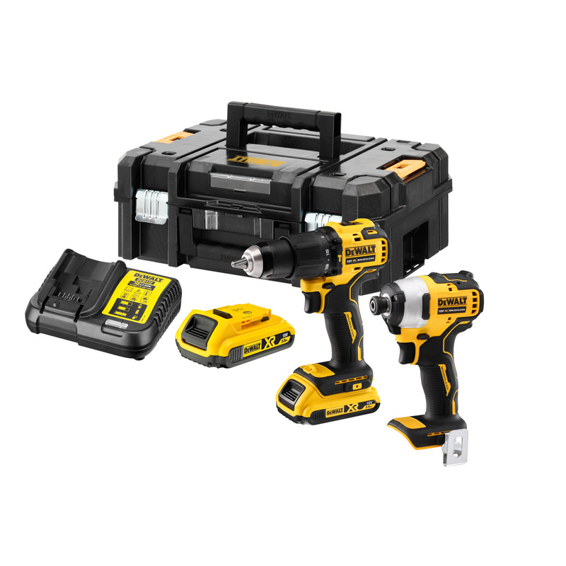 Dewalt DCK2062D2T-GB 18V XR Li-Ion Brushless Compact Combi Drill & Impact Driver Twin Pack