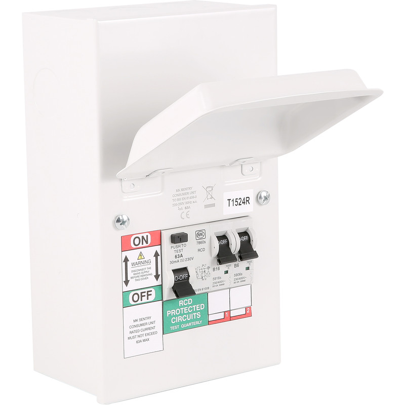 Mk Metal 17th Edition Amendment 3 Garage Consumer Unit 2 Way