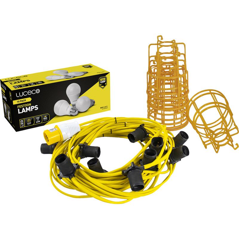 Luceco 110V Festoon Light Kit