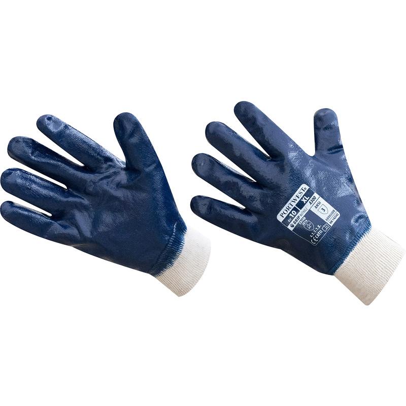 Nitrile Knit Wrist Gloves