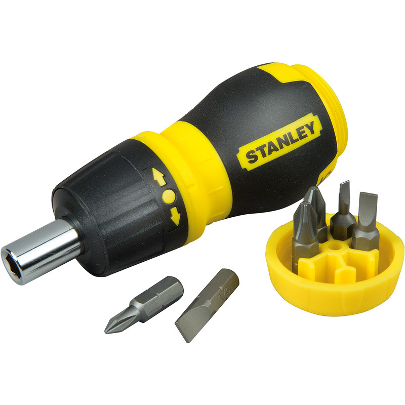 Stanley Stubby Multibit Ratcheting Screwdriver