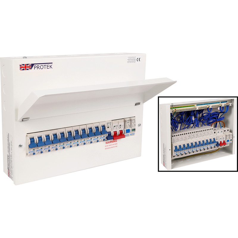 Protek 18th Edition + 11 RCBOs Surge Protected Consumer Unit