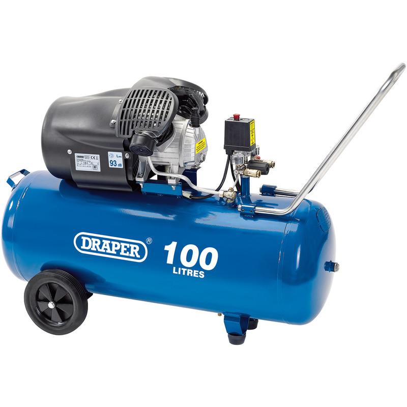 Draper 100L 2200W V-Twin Air Compressor