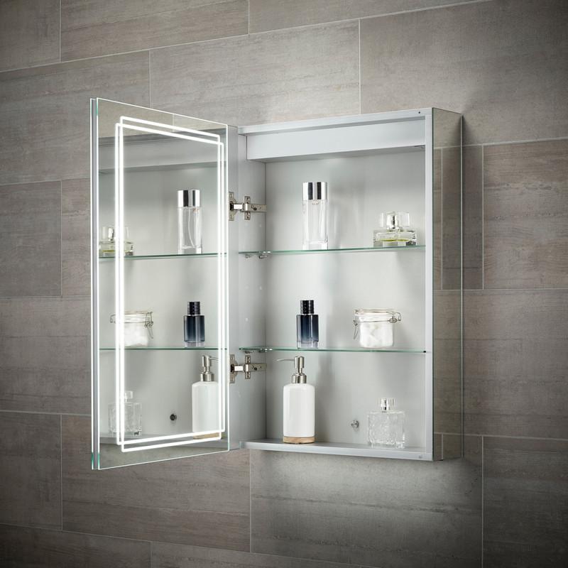 Sensio Harlow Single Door LED Mirror Cabinet