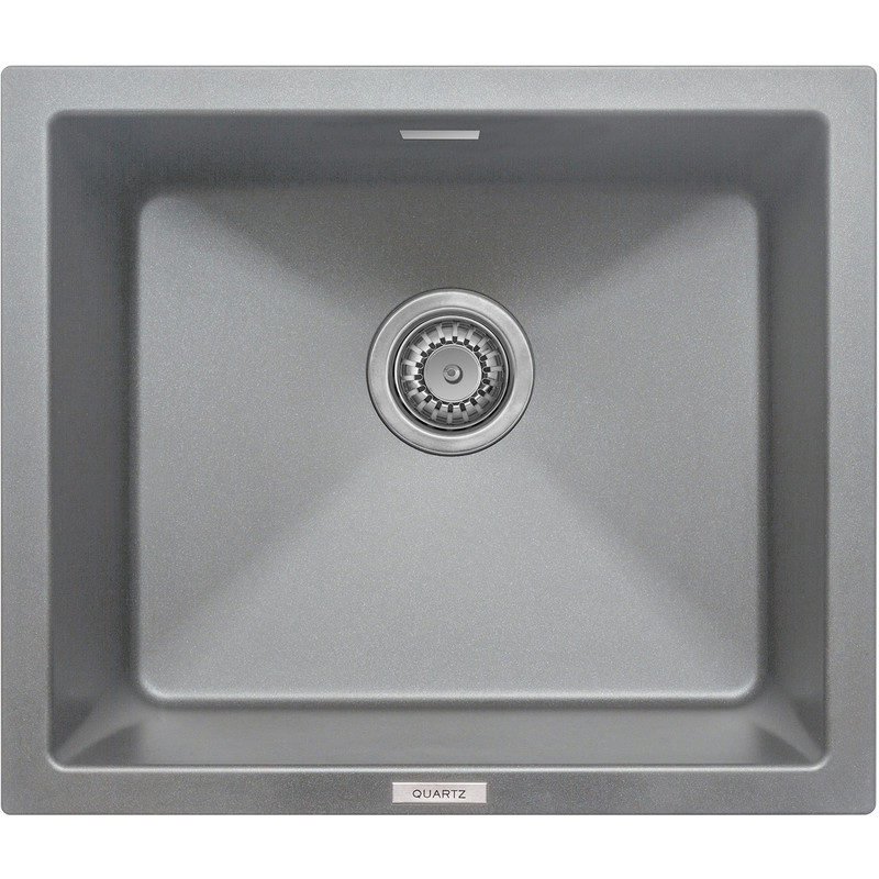 Granite Composite Single Bowl Undermount Kitchen Sink Grey