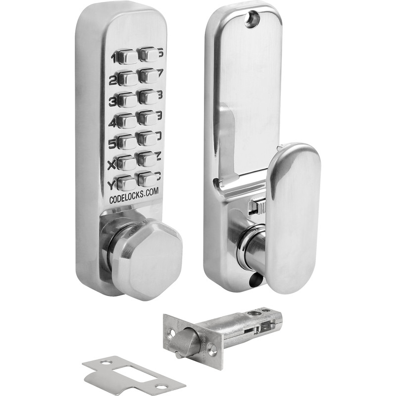 Codelocks CL255 Tubular Mortice Latch with Dual Function Backplate