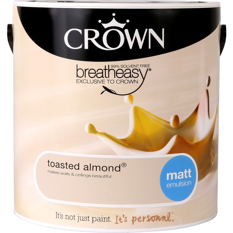 Crown Breatheasy Matt Emulsion 2.5L Toasted Almond