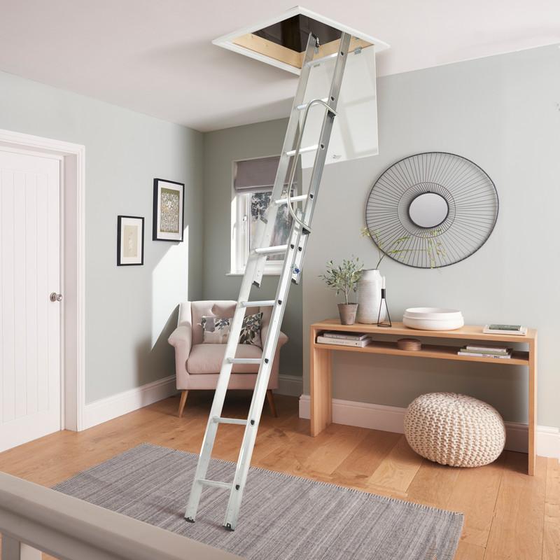 Werner 2 Section Loft Ladder & Handrail