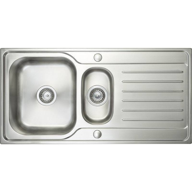 Stainless Steel 1 1/2 Bowl Kitchen Sink & Drainer