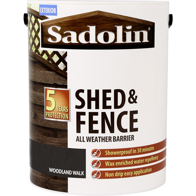 Sadolin Shed Amp Fence Treatment 5l Woodland Walk