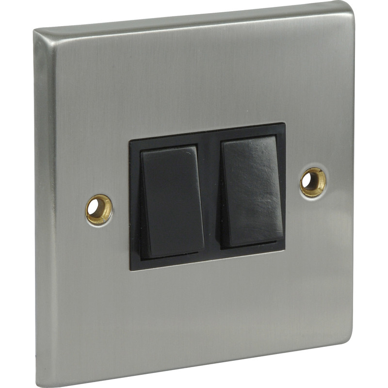 Satin Chrome / Black Switch 10A