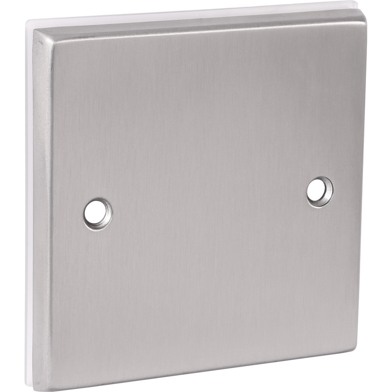 Satin Chrome Blank Plate