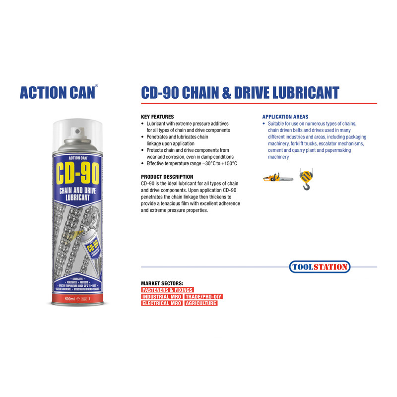 Action Can CD-90 Chain & Drive Lubricant
