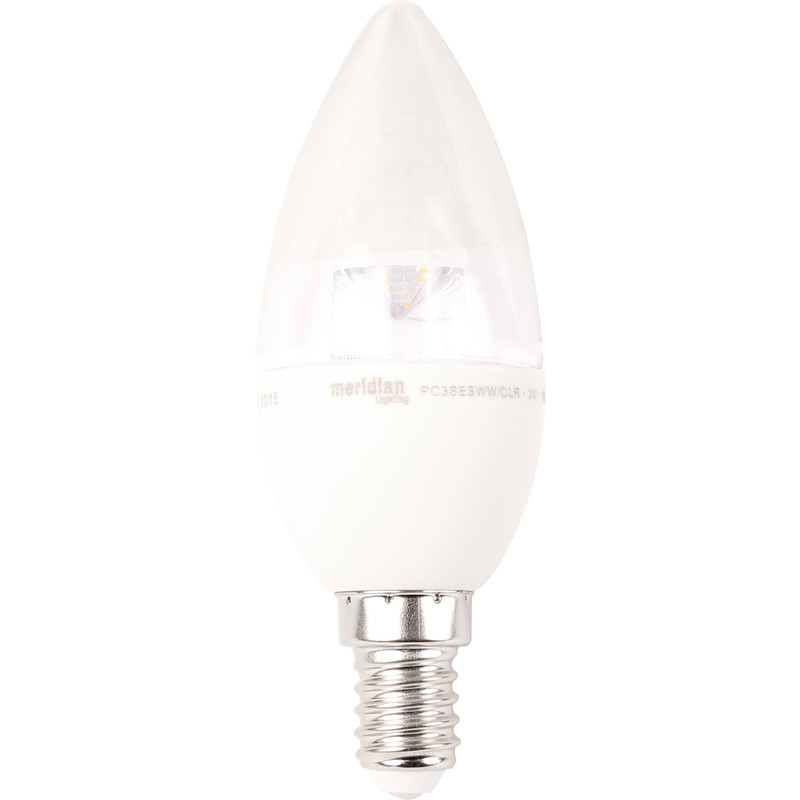 LED 5W Dimmable Clear Candle Lamp