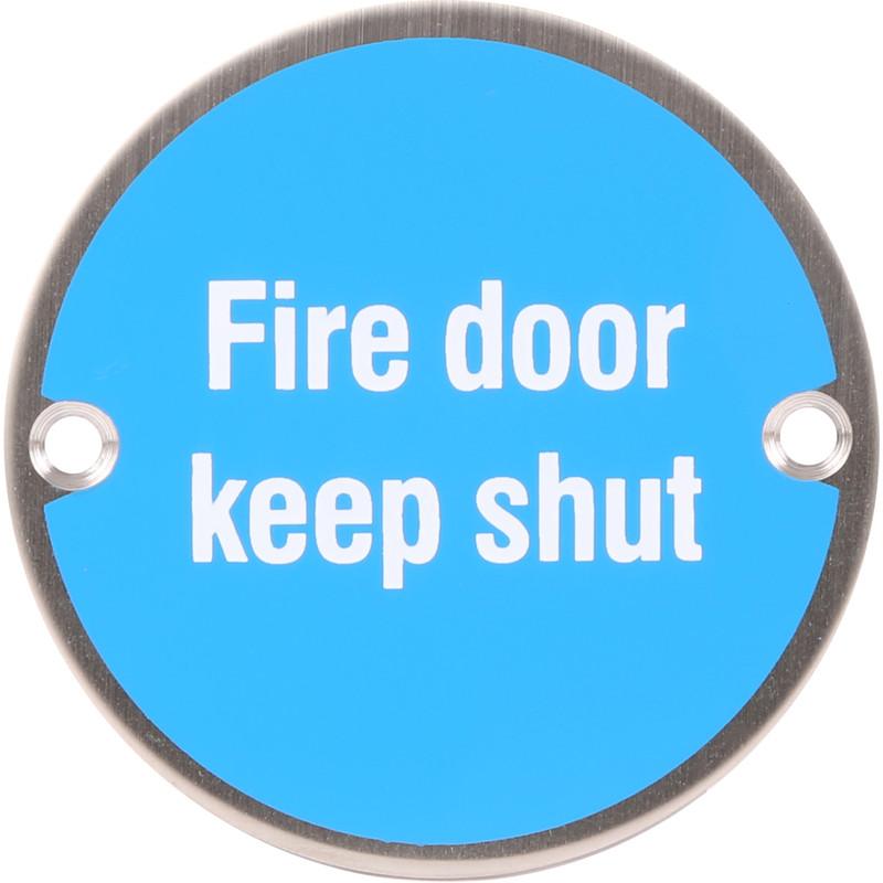 Satin Stainless Steel Door Sign