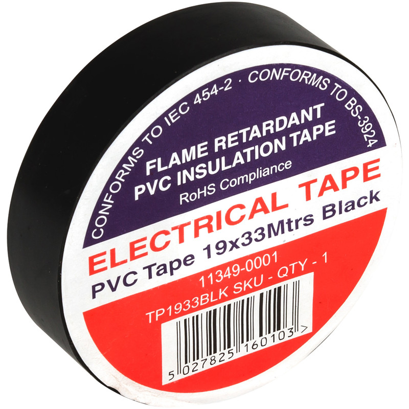 Electrical Fittings 1 x RED 19mm x 33m PVC TAPE ELECTRICAL  INSULATION INSULATING FLAME RETARDANT Home, Furniture & DIY