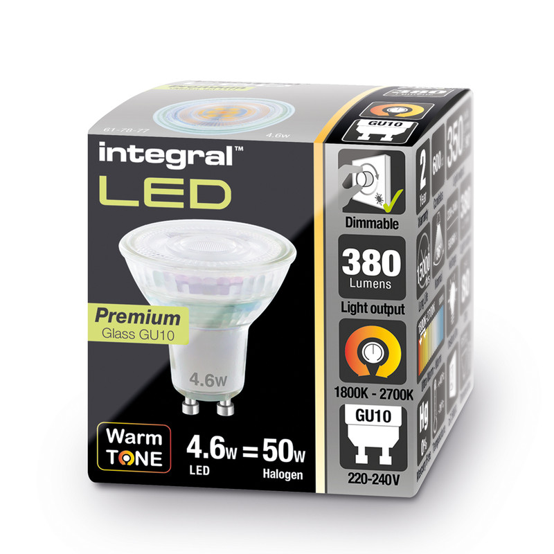 Integral LED WarmTone GU10 Lamp Dimmable
