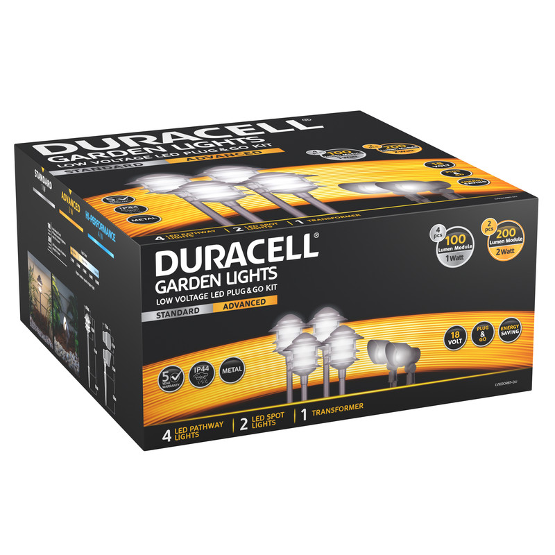 Duracell Pagoda LV LED Garden Lighting Starter Kit